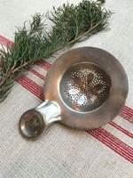 Ezüstözött, alpakka teaszűrő (jelzett, szép állapotban)