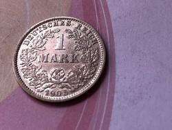 """1905""""E"""" ezüst 1 márka 5,5 gramm 0,900 Ritka"""
