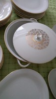 6 személyes porcelán étkészlet – 22 db-os