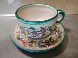 Olasz kerámia teáscsésze csészealjjal