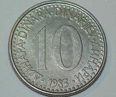 10 Dinár - Jugoszlávia - 1983.