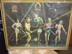 """Omega poszter """" gammapolis """" 1979 es poszter keretezve"""