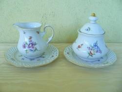 Burg Lindau porcelán tejszínkiöntő és cukortartó