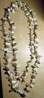 Édesvízi barokk gyöngyökből nyaklánc 112 cm hösszú