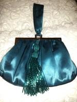 Szépséges színházi táska alkalmi retikül selyem gyöngyös
