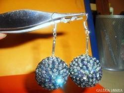 Francia Szivárvány Gömb Kézműves Fülbevaló 6 cm !