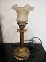 Antik réz asztali lámpa - 33 cm magas