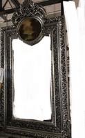 Nagy ezüst képes tükör