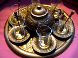 Réz török kávés készlet