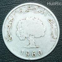 5 Millimes - Tunézia - 1960.