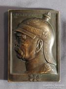 Ritka Bismarck 1815 - 1915 R. Kowarzik Bronz Plakett 100. Százéves Évfordulós Emlék