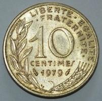 10 Centimes - Franciaország - 1979.