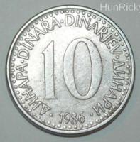10 Dinár - Jugoszlávia - 1986.