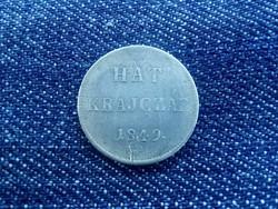 Szabadságharc ezüst 6 krajczár 1849 NB /id 2660/