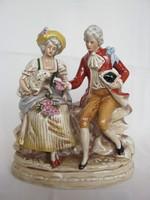 Német porcelán barokk pár báránnyal