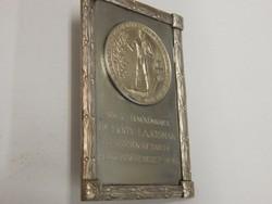 Vert jubileumi ezüst érem lapra rögzítve 1928 - 12 000 Ft