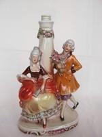 Német porcelán barokk pár lámpa lámpatest