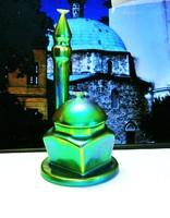 Zsolnay eosin mázas minaret dzsámival