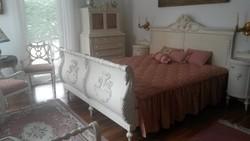Hálószoba, 100 éves luxus fehér Kastély garnitura