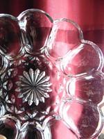 Tojástartó üveg tál