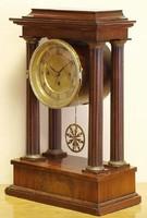 Biedermeier asztali / kandalló / óra,negyedütő,1850 körüli