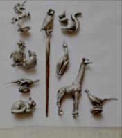 Állat figurák ón
