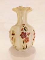 Új, Zsolnay bordó-rózsaszín virágos váza. Hibátlan!  (No. 12)