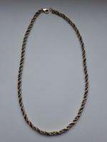 Antik német tömör fehér-sárga arany nyaklánc (jelzett)