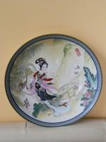 Porcelán dísztányér (gésa,japán)