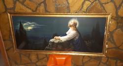 Régi,Jézust ábrázoló vallási témájú kép
