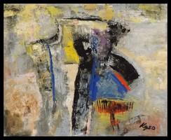 """"""" Fák a domboldalon """" Koso festmény hatalmas 80 x 100 cm keretes akció"""