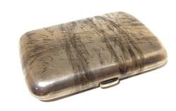 Ezüst cigarettatárca cigitartó cigidoboz 1897 EZÜST 104 gr