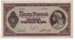 100 pengő 1945 II.