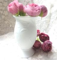 Szecessziós fehér biszkvit porcelán váza
