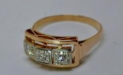 Kivételes antik brill 18kt  arany gyűrű