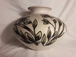 BOD ÉVA kerámia váza - jelzett, hibátlan
