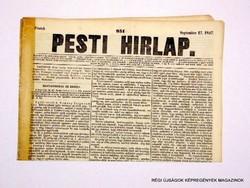 1847 szeptember 17  /  Pesti Hirlap 1. Kiadás  /  Régi ÚJSÁGOK KÉPREGÉNYEK MAGAZINOK Szs.:  8693