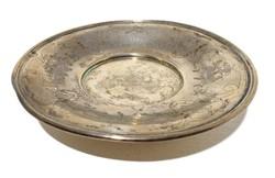 Ezüst díszes talpas tál tálca kínáló EZÜST 124 gr
