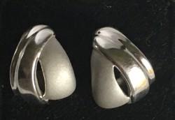Fülbevaló betűzős-925-ös finomságú ezüstből