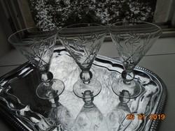 Goebel jelzett ,talpas ,metszett szecessziós pohár 3 db-15 cm