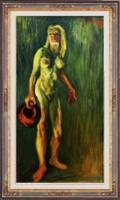 Akt korsóval - Incze Ferenc székely festőművész