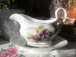 Antik szószos tál virágokkal