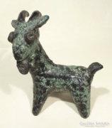 Kertész Klára repesztett mázas figurája