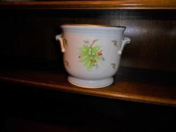 Óriási hecsedlis Herendi porcelán kaspó