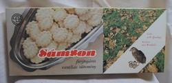Régi süteményes (karton) doboz (Sámson, 1986)
