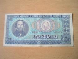 ROMÁNIA 100 LEI 1966 H SZÉRIA