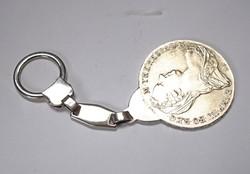 Mária Terézia tallér ezüst kulcstartó.