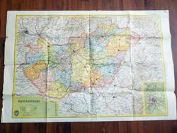 Magyarország  térképe tiszteletpéldány! Új Honvéd Térképészeti Intézet első térkép kiadványából