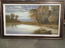 Puskás Imre festmény eladó , 50x90cm