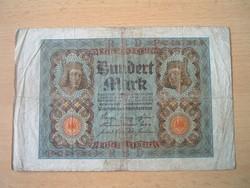 NÉMET BIRODALOM 100 MÁRKA 1920 E / P SZÉRIA, 7 SZÁM